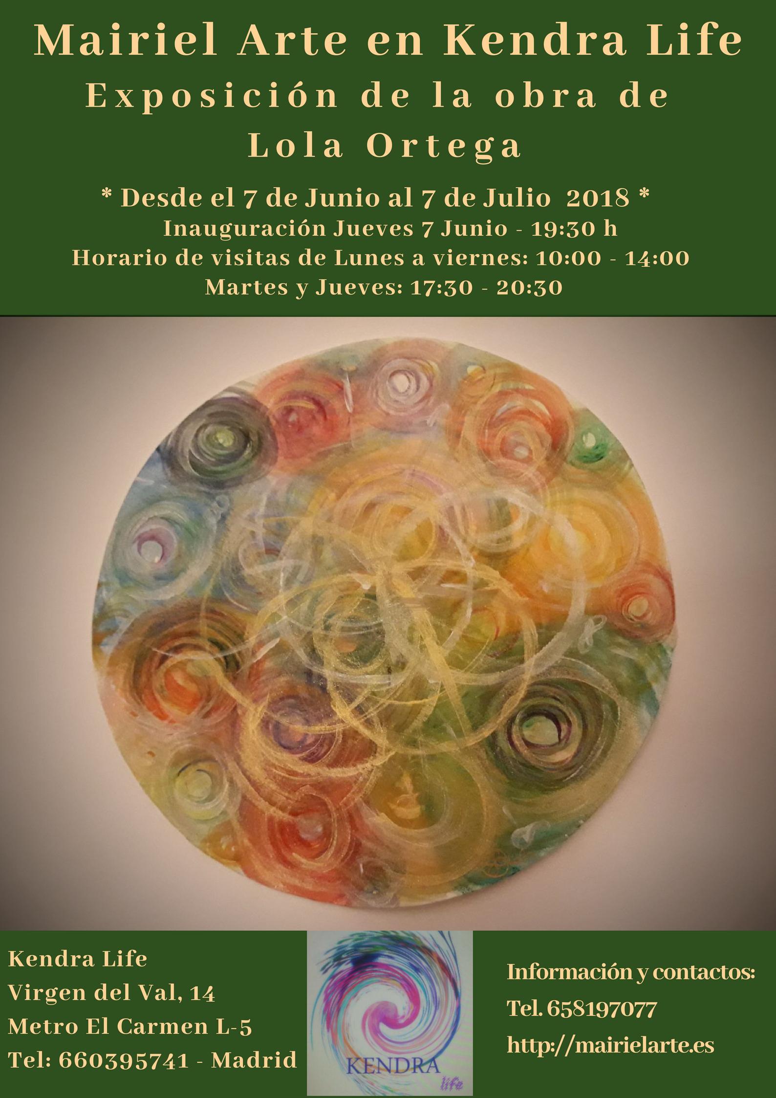 cartel exposición Kendra junio 2018